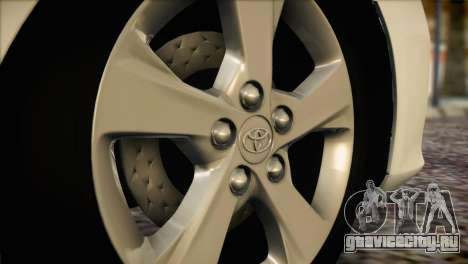 Toyota Corolla 2012 для GTA San Andreas вид сзади