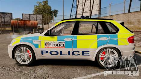 BMW X5 City Of London Police [ELS] для GTA 4 вид слева
