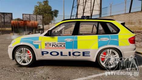 BMW X5 City Of London Police [ELS] для GTA 4 вид слева