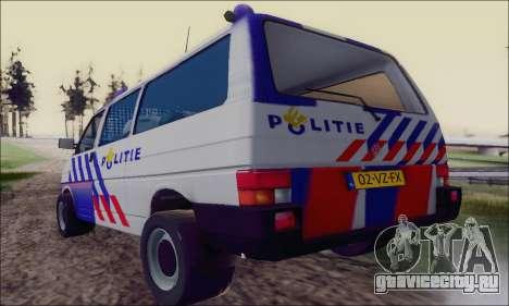 Volkswagen T4 Politie для GTA San Andreas вид справа