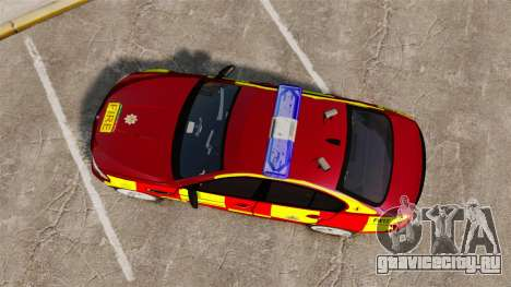 BMW M5 West Midlands Fire Service [ELS] для GTA 4 вид справа