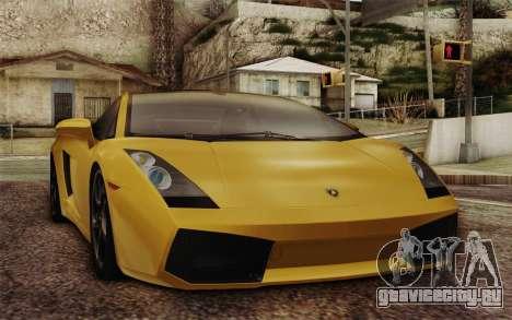 Lamborghini Gallardo SE для GTA San Andreas вид сбоку