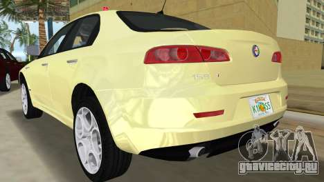 Alfa Romeo 159 ti для GTA Vice City вид сзади слева
