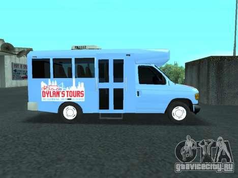Ford Shuttle Bus для GTA San Andreas вид сзади