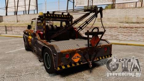 Chevrolet Tow truck rusty Stock для GTA 4 вид сзади слева