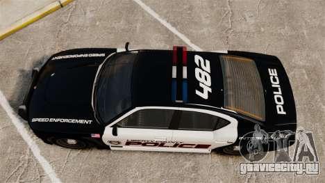 GTA V Bravado Buffalo Supercharged LCPD для GTA 4 вид справа