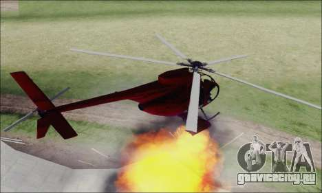 Buzzard Attack Chopper из GTA 5 для GTA San Andreas вид сзади