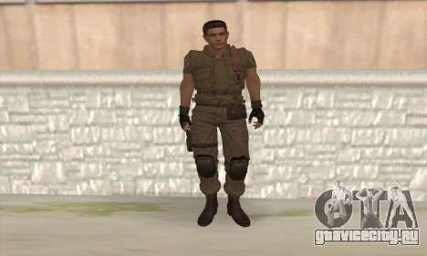 Крис Редфилд v2 для GTA San Andreas