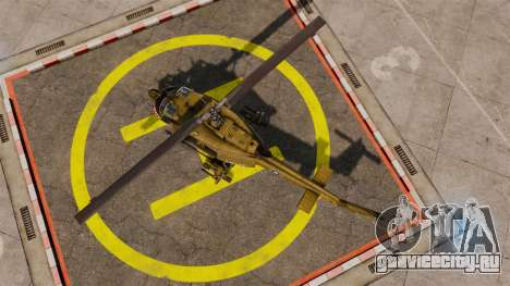 Bell UH-1 Iroquois v2.0 Gunship [EPM] для GTA 4 вид справа