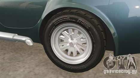 Shelby Cobra 427 SC 1965 для GTA 4 вид сверху