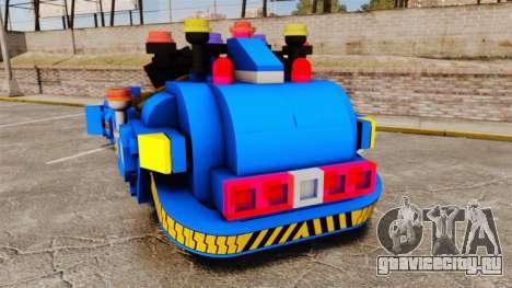 Lego Car Blade Runner Spinner [ELS] для GTA 4 вид сзади слева