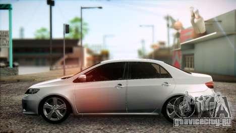 Toyota Corolla 2012 для GTA San Andreas вид сзади слева