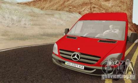 Mersedes-Benz Sprinter для GTA San Andreas вид справа