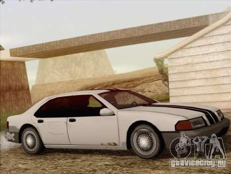 Fortune Sedan для GTA San Andreas вид сзади