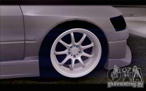 Mitsubishi Lancer Evolution Stance для GTA San Andreas вид сзади слева
