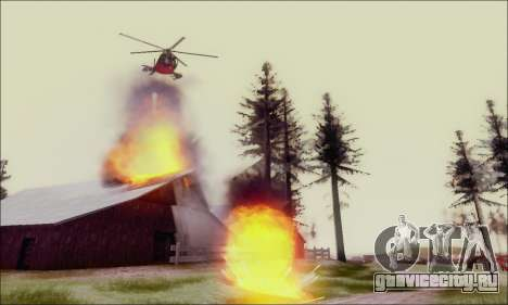 Buzzard Attack Chopper из GTA 5 для GTA San Andreas вид изнутри