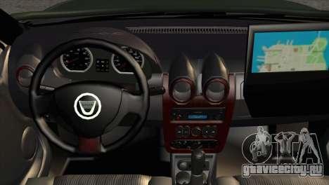 Dacia Duster Army Skin 1 для GTA San Andreas вид справа