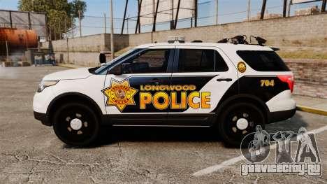 Ford Explorer 2013 Longwood Police [ELS] для GTA 4 вид слева
