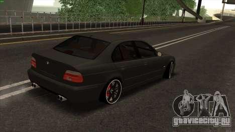 BMW M5 E39 для GTA San Andreas вид сзади слева