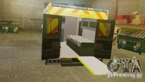 Mercedes-Benz Sprinter [ELS] London Ambulance для GTA 4 вид изнутри