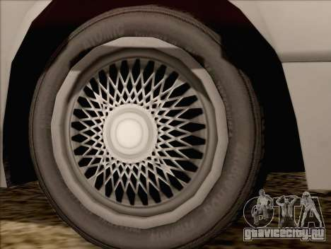 Fortune Sedan для GTA San Andreas вид сзади слева