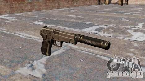 Пистолет SIG-Sauer P226 с глушителем для GTA 4