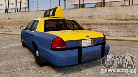 Ford Crown Victoria 1999 GTA V Taxi для GTA 4 вид сзади слева
