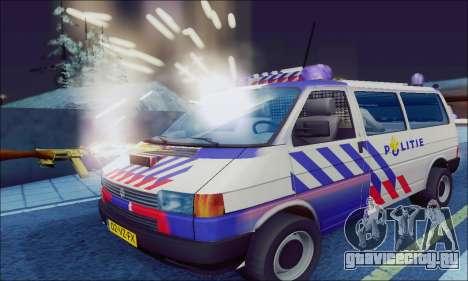 Volkswagen T4 Politie для GTA San Andreas вид слева