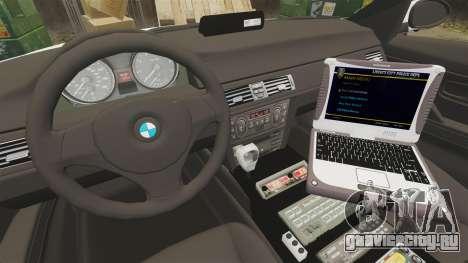 BMW 330i Hampshire Police [ELS] для GTA 4 вид сзади