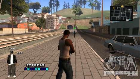 C-HUD Aztecaz для GTA San Andreas второй скриншот