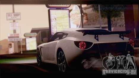 Aston Martin V12 Zagato 2012 [IVF] для GTA San Andreas вид сзади слева