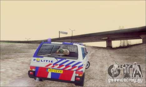 Volkswagen T4 Politie для GTA San Andreas вид сверху