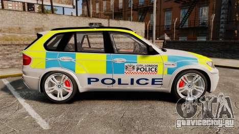 BMW X5 Police [ELS] для GTA 4 вид слева