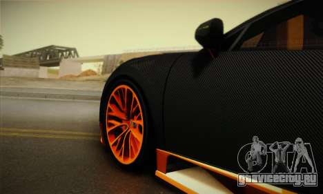 Bugatti Veyron Super Sport World Record Edition для GTA San Andreas вид сзади