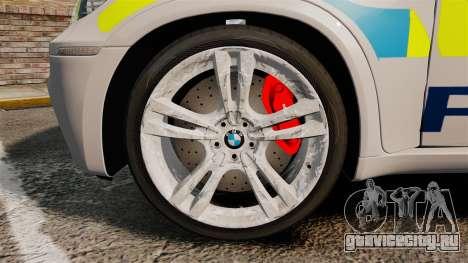 BMW X5 Police [ELS] для GTA 4 вид сзади