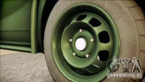 Dacia Duster Army Skin 1 для GTA San Andreas вид сзади слева