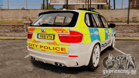 BMW X5 City Of London Police [ELS] для GTA 4 вид сзади слева