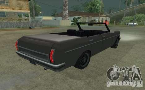 Perennial Cabriolet для GTA San Andreas вид сзади слева