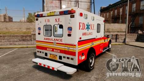 Ford F-350 2013 FDNY Ambulance [ELS] для GTA 4 вид сзади слева