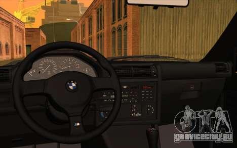 BMW M3 E30 Stock Version для GTA San Andreas вид изнутри