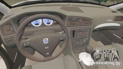 Volvo S60R для GTA 4 вид сзади
