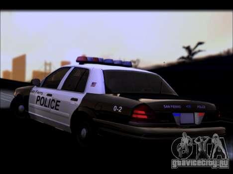 Ford Crown Victoria 2005 Police для GTA San Andreas вид сверху