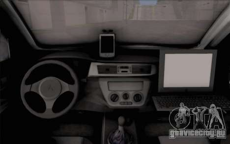 Mitsubishi Lancer Evolution IIIX для GTA San Andreas вид сзади