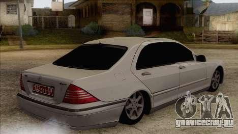 Mercedes-Benz W220 S500 4matic для GTA San Andreas вид слева