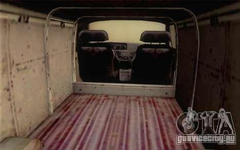 Dodge RAM Van 1500 для GTA San Andreas вид сзади слева