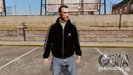 Чёрная олимпийка -Adidas Originals- для GTA 4