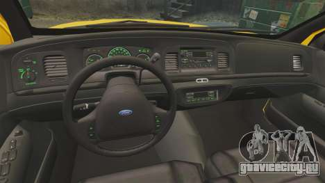 Ford Crown Victoria 1999 LCC Taxi для GTA 4 вид сзади