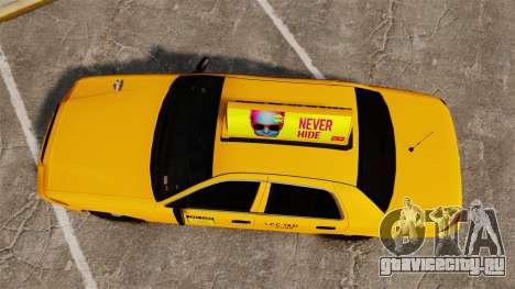 Ford Crown Victoria 1999 LCC Taxi для GTA 4 вид справа