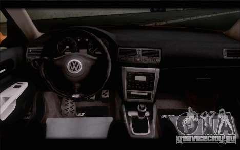 Volkswagen Golf IV для GTA San Andreas вид сзади слева