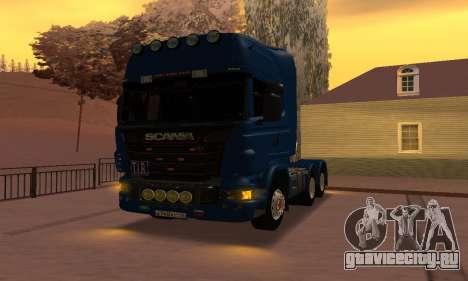 Scania Topline R730 V8 для GTA San Andreas вид справа